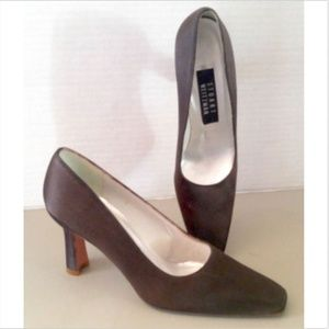 Stuart Weitzman Size 8AA Brown Satin Pumps Shoes